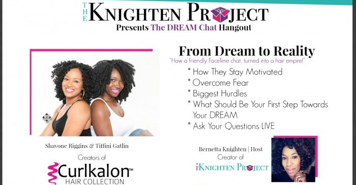 {Free Hangout} The Dream Chat: Creators of Curlkalon Share How Their Dreams Are Now Reality on Tuesday, July 21 at 9pm ET