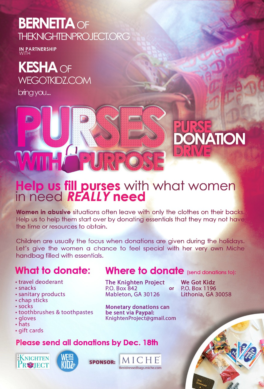 purses with purpose flyer